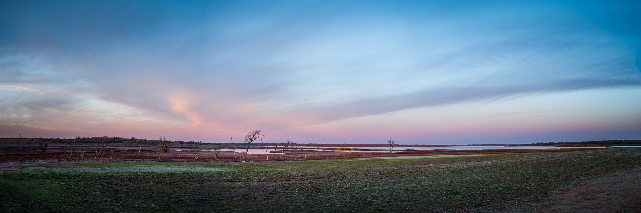 North Texas' Hagerman National Wildlife Refuge stretches into the distance.