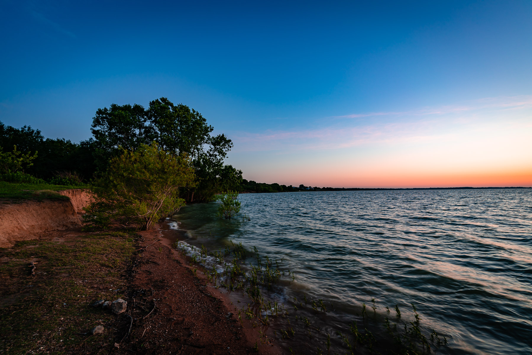 Early morning on the shore of North Texas' Lake Lavon.