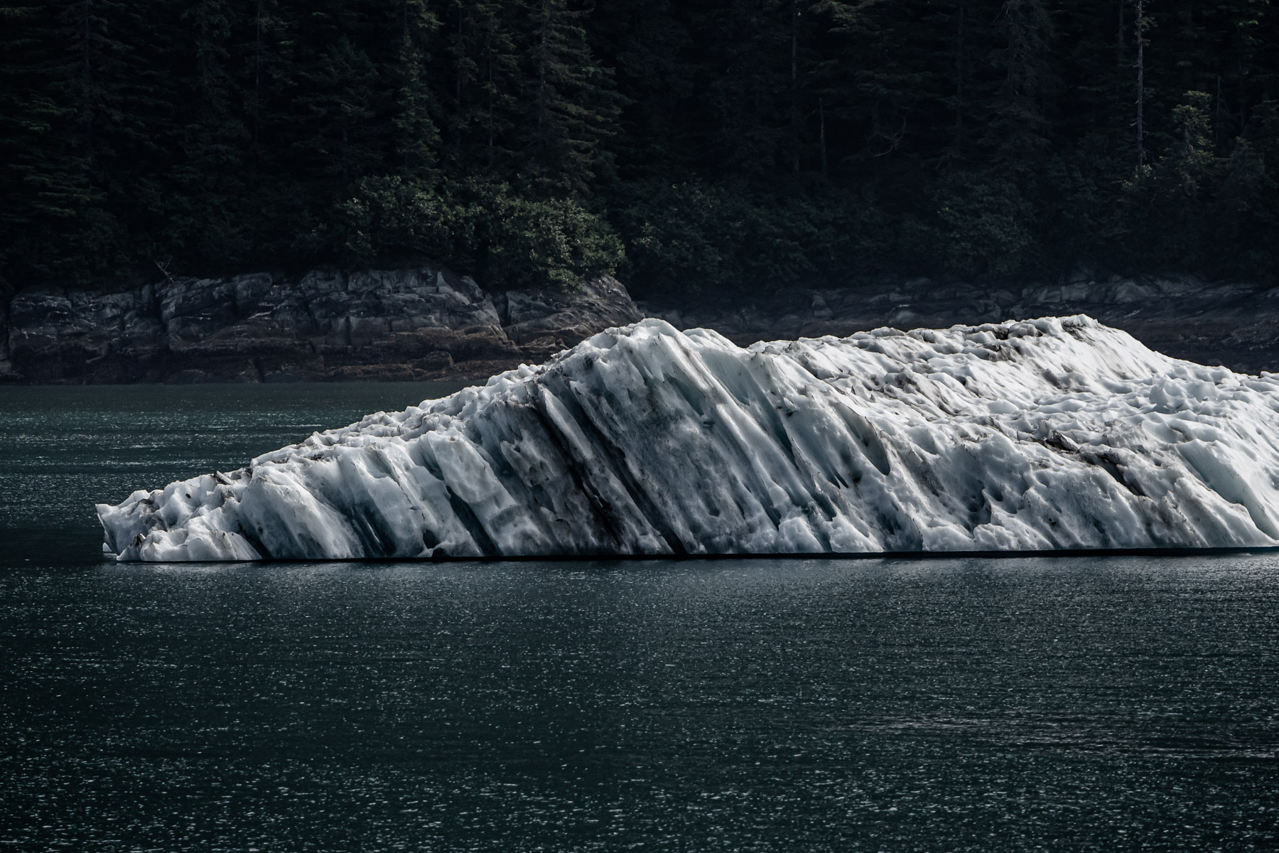 An iceberg floats in Alaska's Stephens Passage near Juneau.