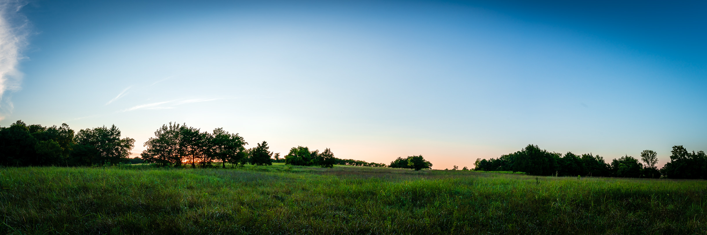 Sunset at McKinney, Texas' Erwin Park.