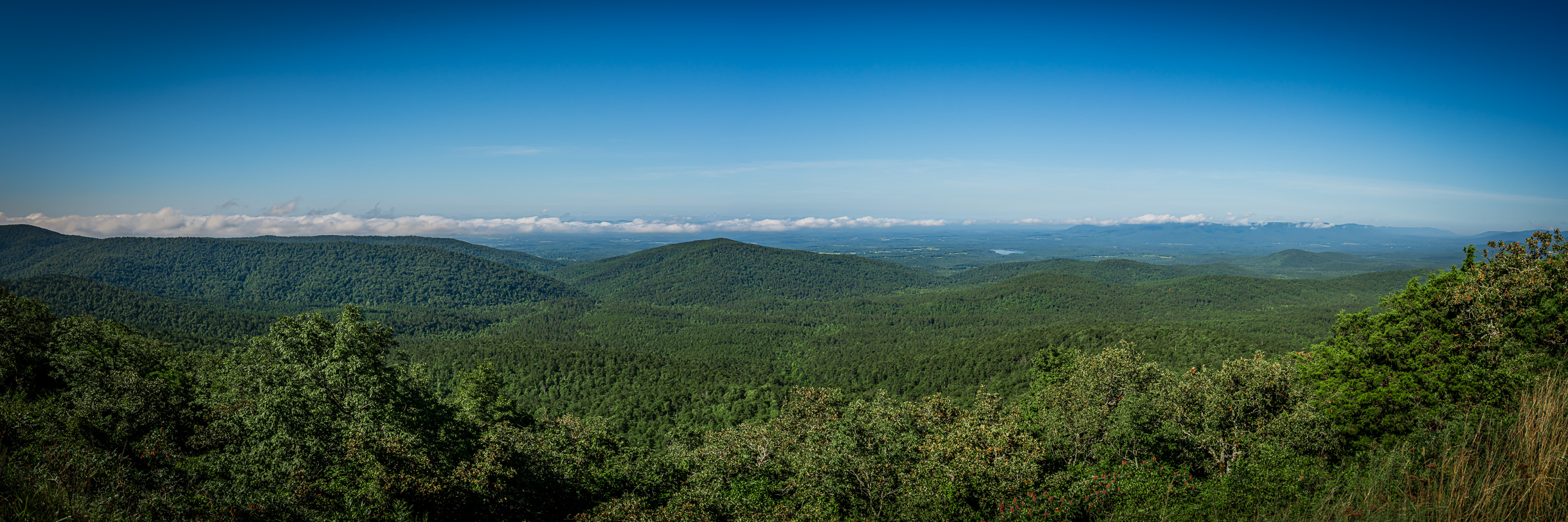 The Ouachita National Forest stretches over the mountains near Mena, Arkansas.