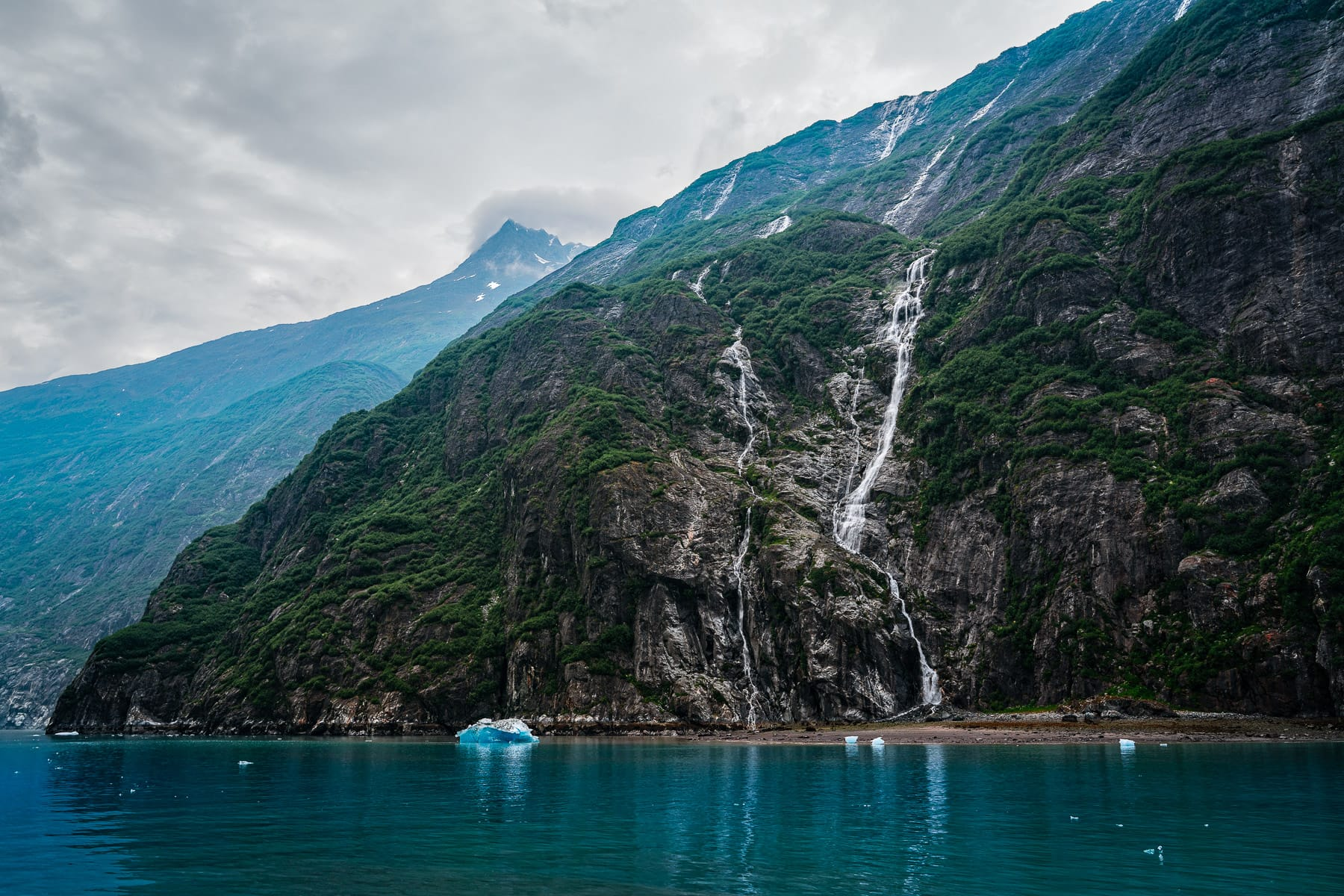The rugged landscape of Alaska's Tracy Arm Fjord.