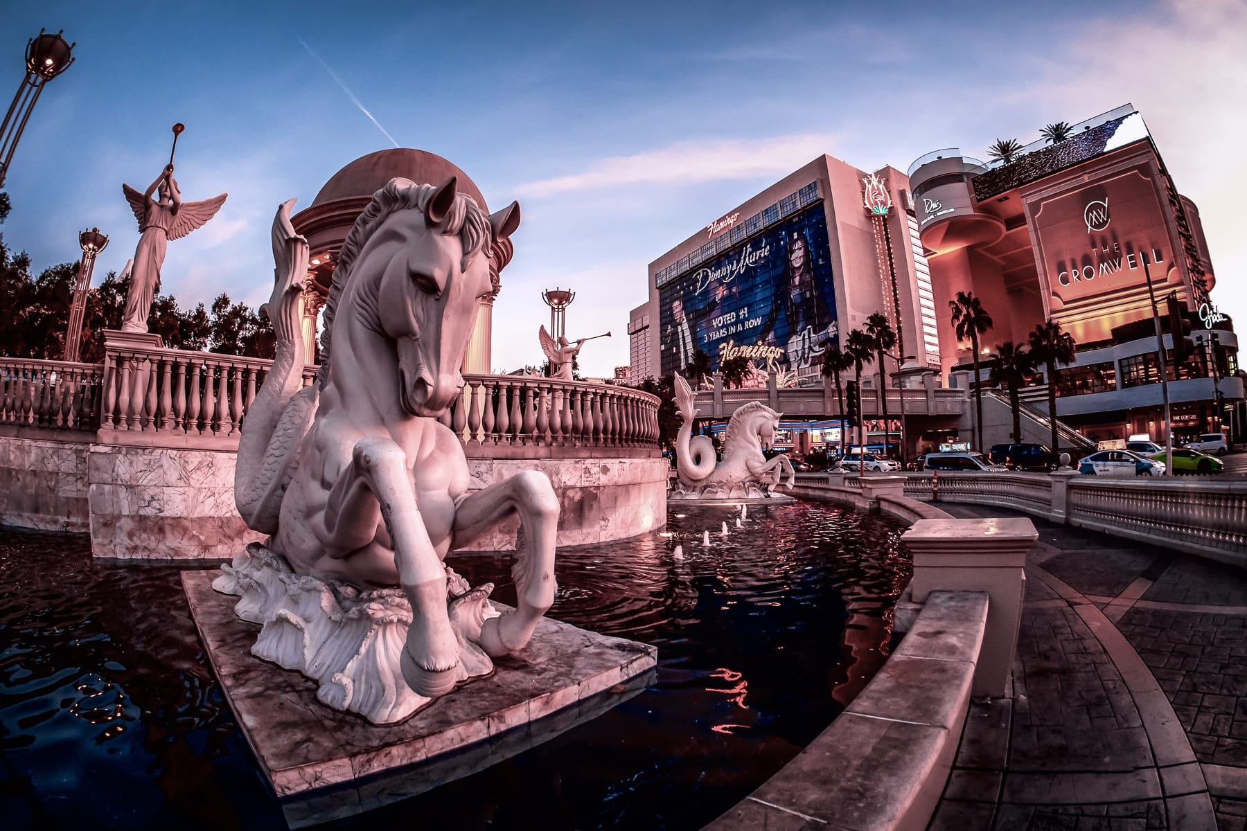 Fountains along The Strip at Caesars Palace, Las Vegas.