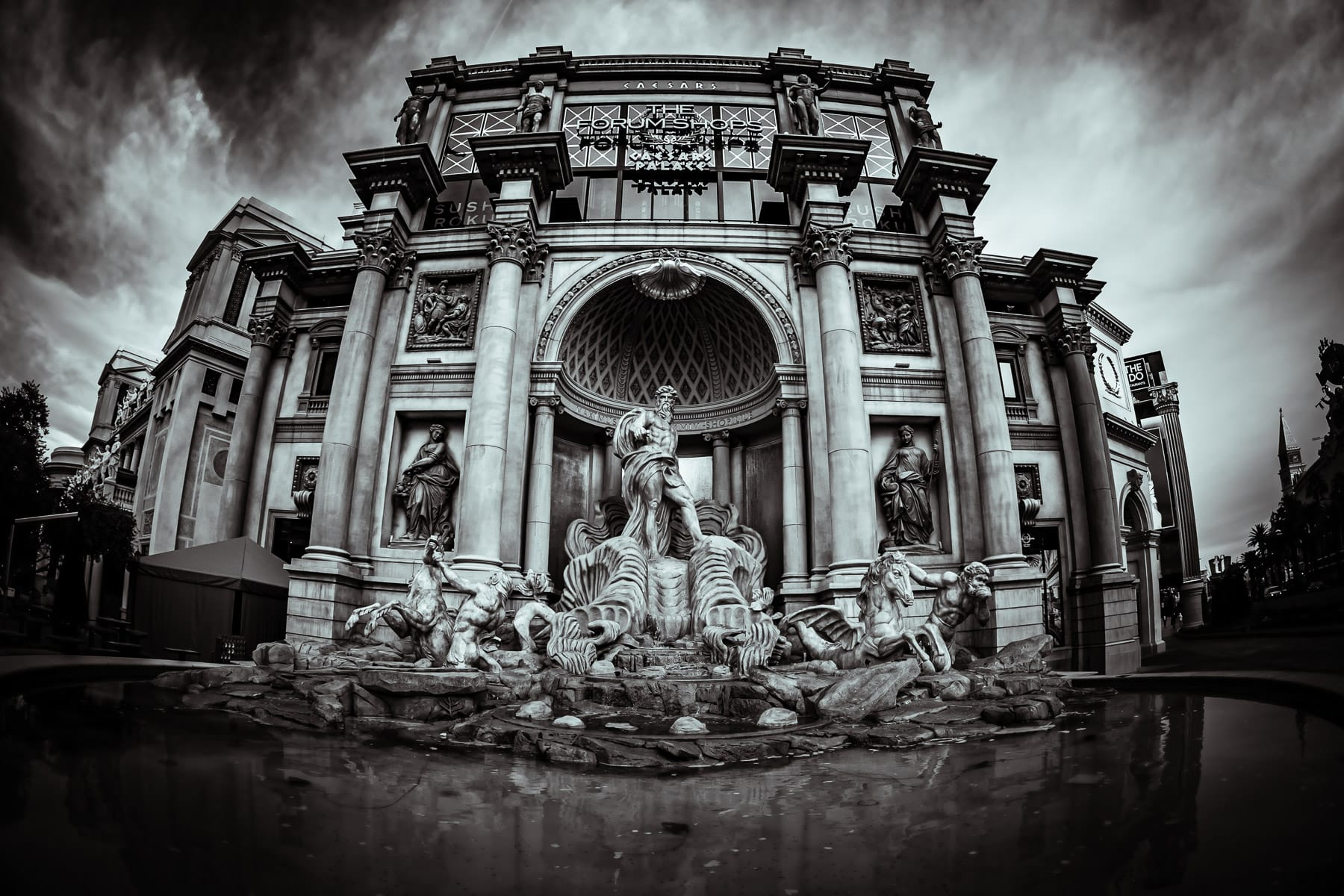 The replica of Rome's Trevi Fountain at Caesars Palace, Las Vegas.