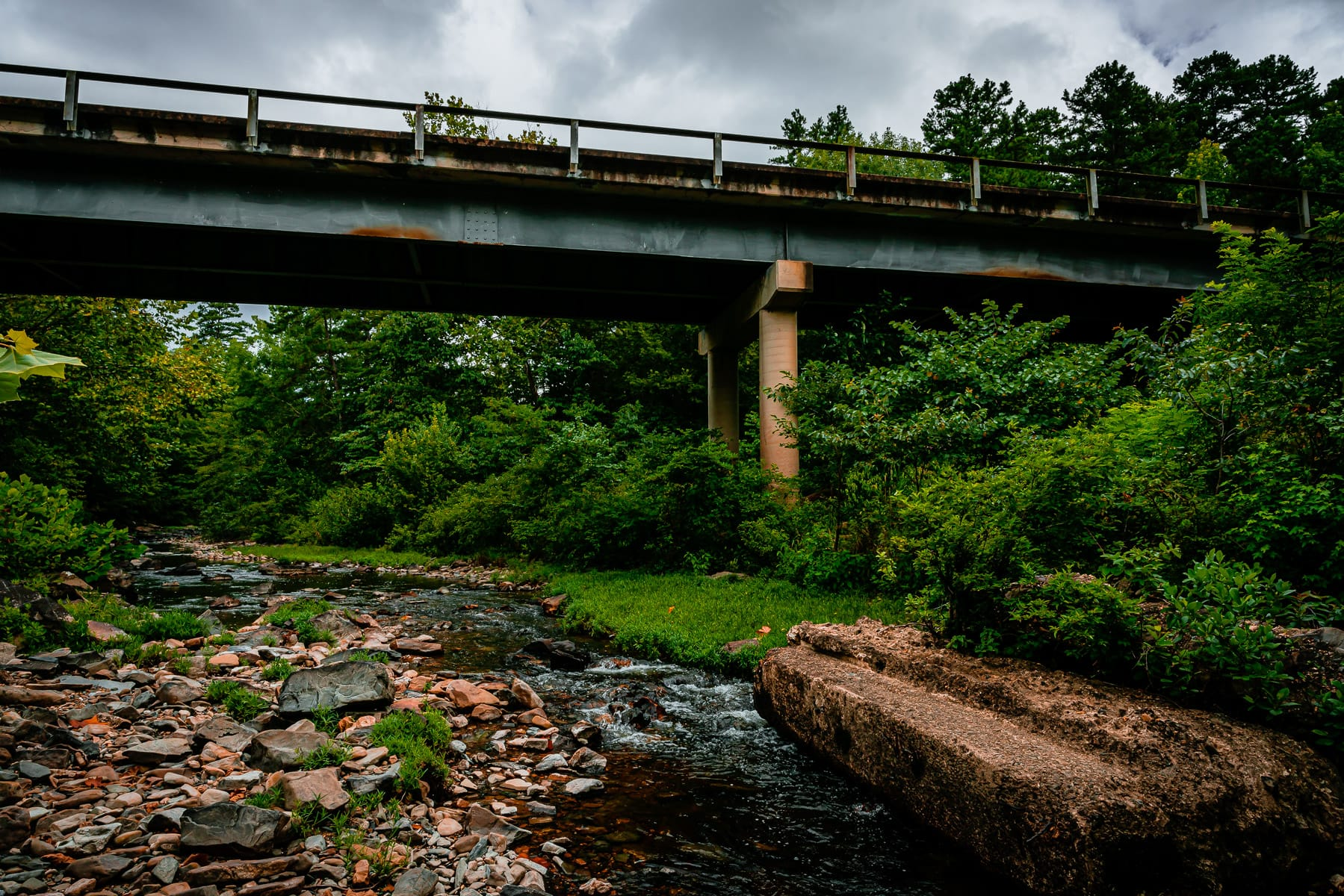 A bridge for US-278 passes over the Cossatot River, Arkansas.