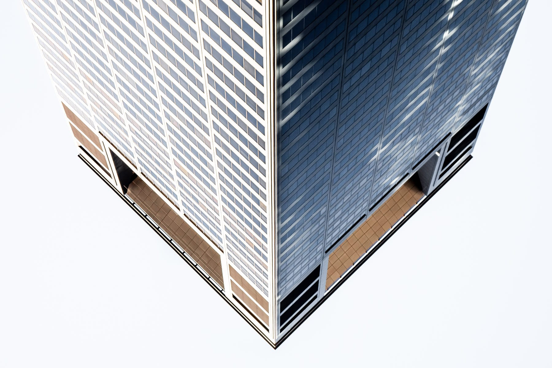 An abstract view of Downtown Houston's CenterPoint Energy Plaza.