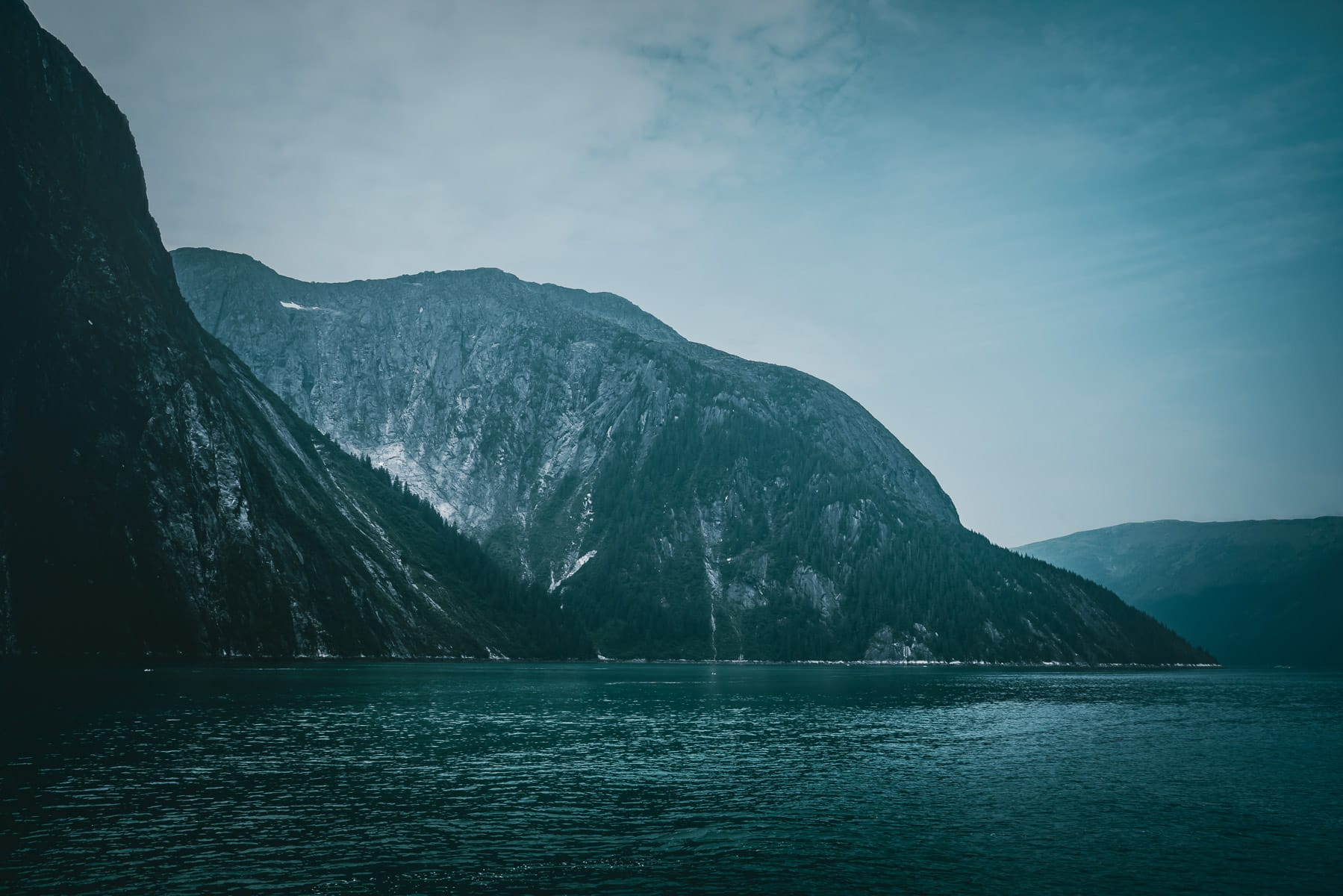 A light haze in Alaska's Tracy Arm Fjord.