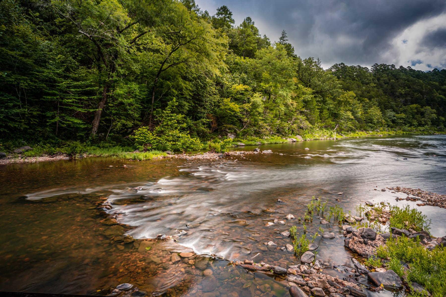 The Cossatot River flows through the Ouachita National Forest in Western Arkansas.