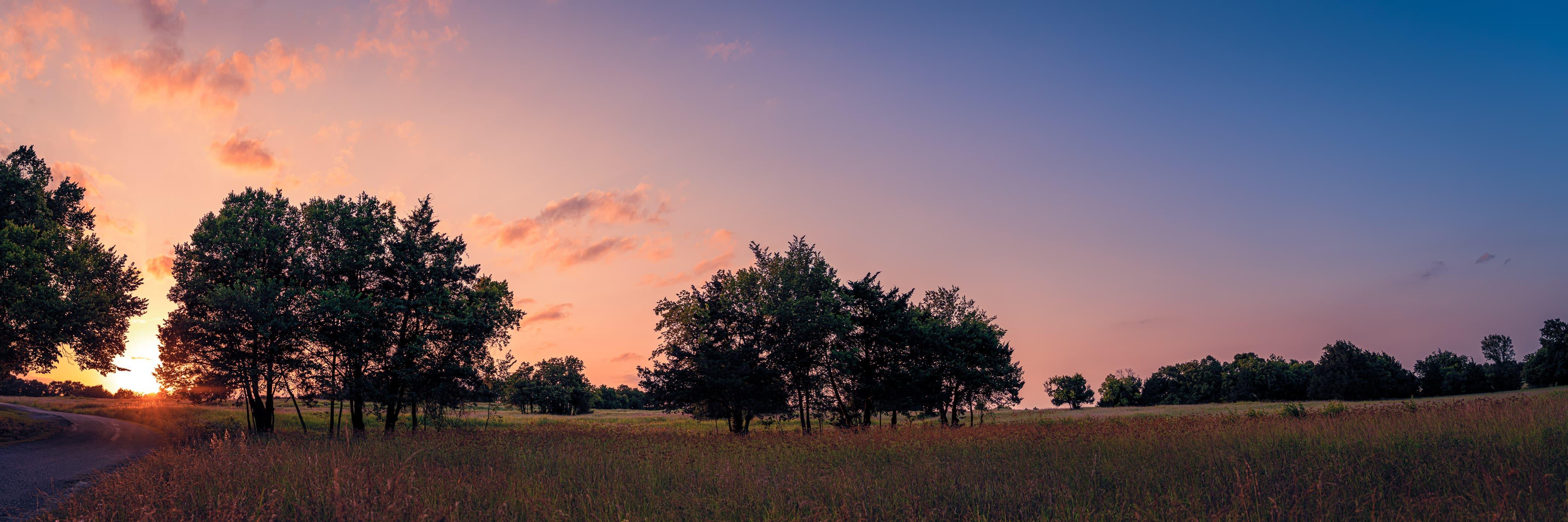 Sunset at McKinney, Texas' Erwin Park.