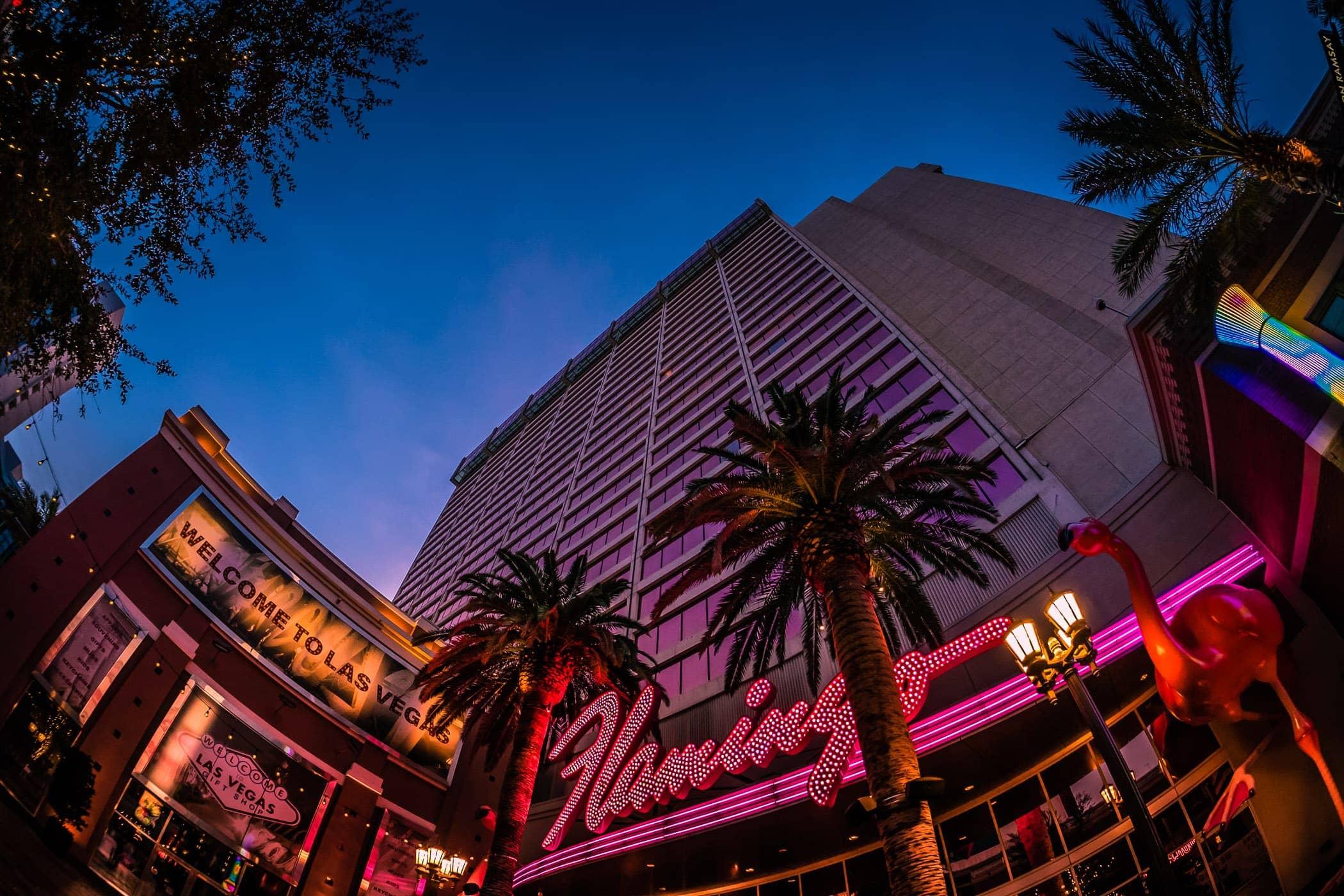 Early-morning at The Flamingo, Las Vegas.