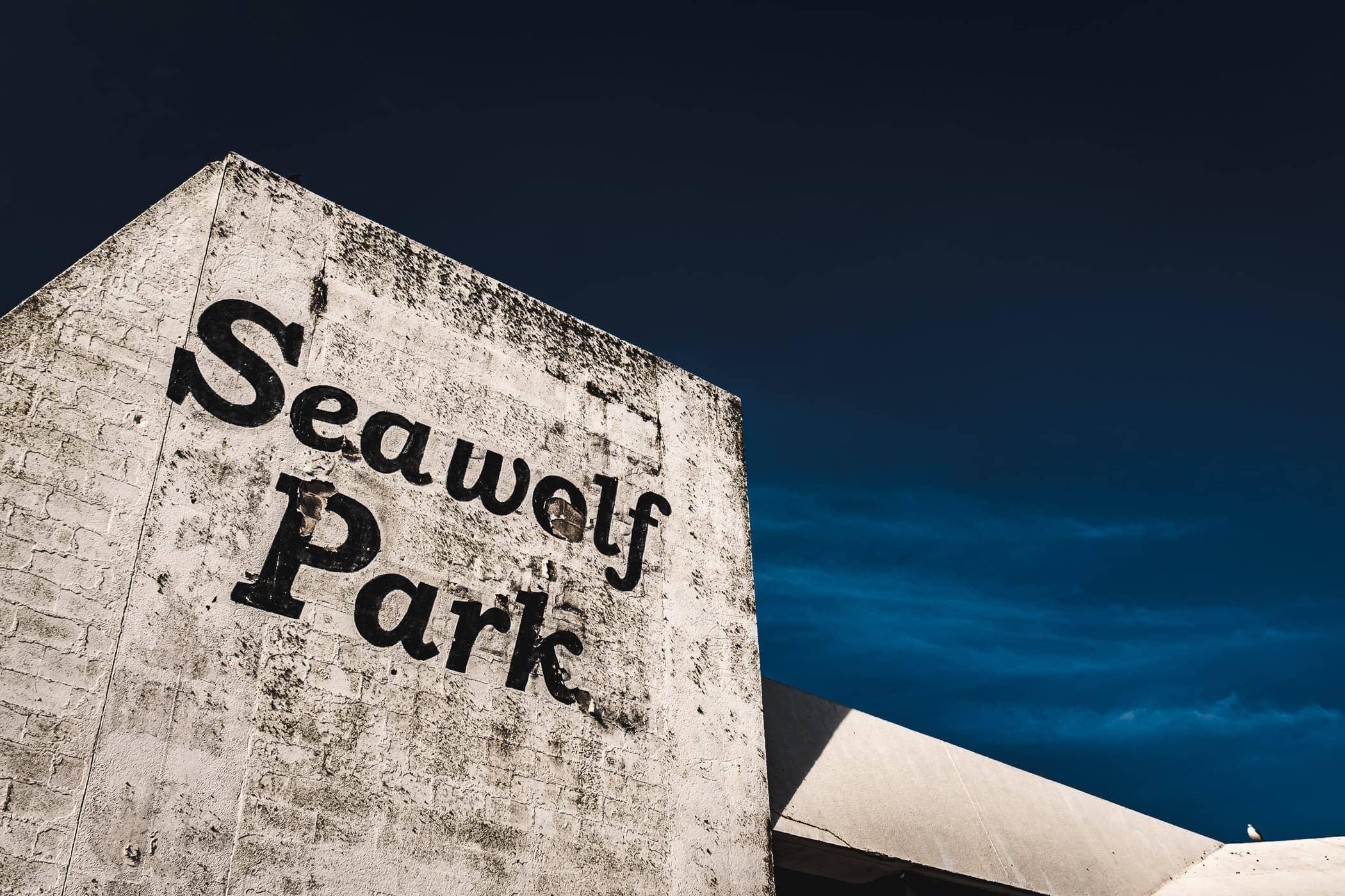 The abandoned, hurricane-damaged pavilion at Seawolf Park, Pelican Island, Galveston, Texas.
